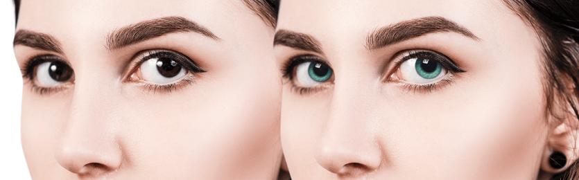 A színes kontaktlencsék típusai