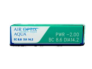 Air Optix Aqua (3db lencse) - Paraméterek előnézete