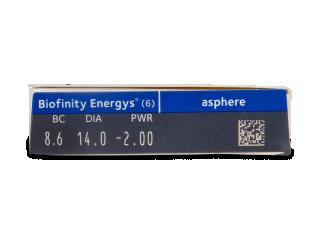 Biofinity Energys (6 lencse) - Paraméterek előnézete