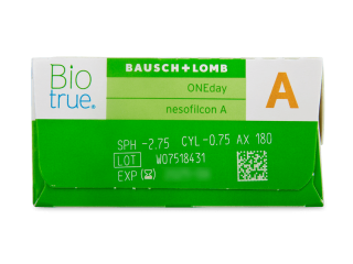 Biotrue ONEday for Astigmatism (30 lencse) - Paraméterek előnézete