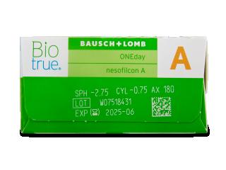 Biotrue ONEday for Astigmatism (90 lencse) - Paraméterek előnézete
