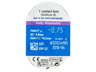 SofLens Daily Disposable (90db lencse) - Buborékcsomagolás előnézete