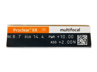 Proclear Multifocal XR (3db lencse) - Paraméterek előnézete