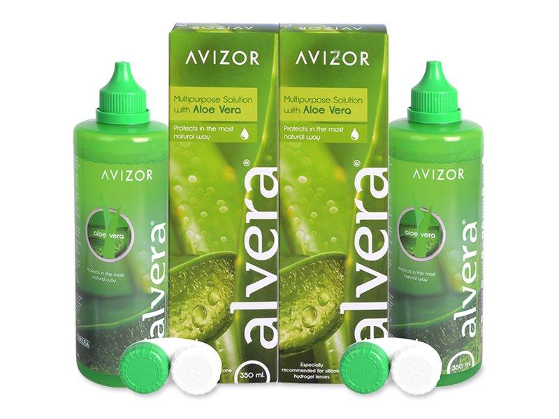 Alvera kontaktlencse folyadék 2 x 350 ml  - Gazdaságos duo kiszerelés - ápolószer