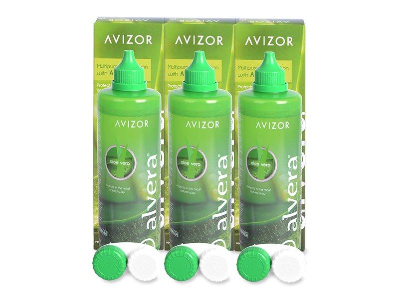 Alvera kontaktlencse folyadék 3 x 350 ml  - Gazdaságos hármas kiszerelés - ápolószer
