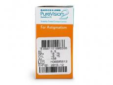 PureVision 2 for Astigmatism (6db lencse) - Paraméterek előnézete