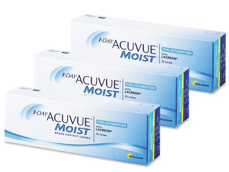 1 Day Acuvue Moist for Astigmatism (90db lencse) - Tórikus kontaktlencsék