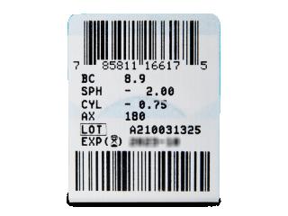 PureVision 2 for Astigmatism (3db lencse) - Paraméterek előnézete