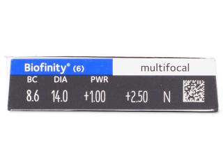 Biofinity Multifocal (6 db lencse) - Paraméterek előnézete