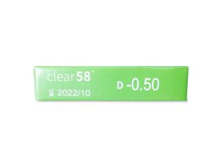 Clear 58 (6db lencse) - Paraméterek előnézete
