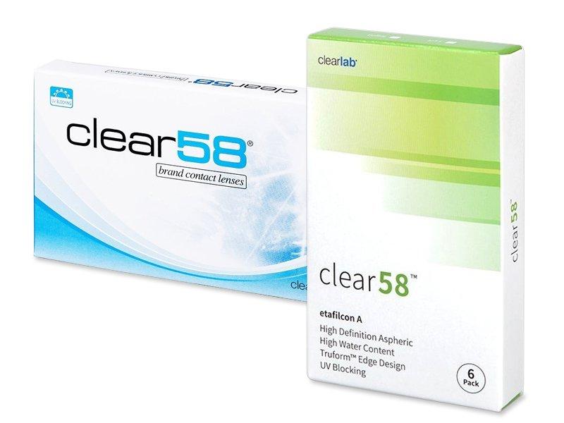 Clear 58 (6db lencse) - Kétheti kontaktlencse