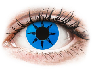 ColourVUE Crazy Lens - Blue Star - dioptria nélkül (2 db lencse)