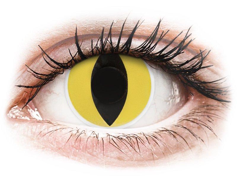 ColourVUE Crazy Lens - Cat Eye - dioptria nélkül (2 db lencse)