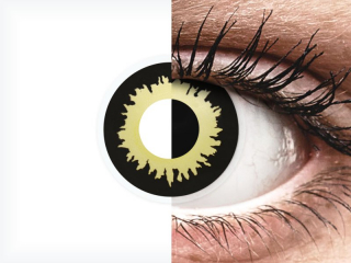 ColourVUE Crazy Lens - Eclipse - dioptria nélkül (2 db lencse)