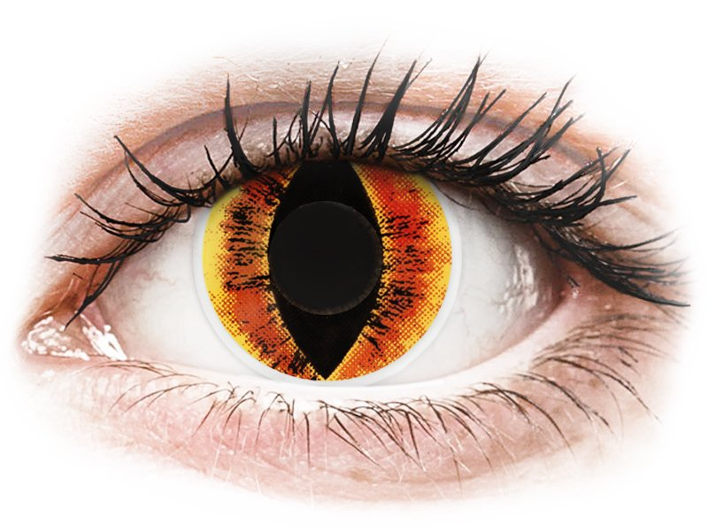 ColourVUE Crazy Lens - Saurons Eye - dioptria nélkül (2 db lencse)