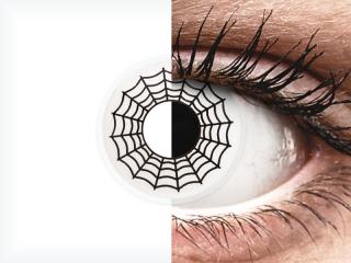 ColourVUE Crazy Lens - Spider - dioptria nélkül (2 db lencse)