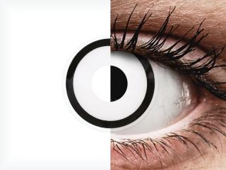ColourVUE Crazy Lens - White Zombie - dioptria nélkül (2 db lencse)