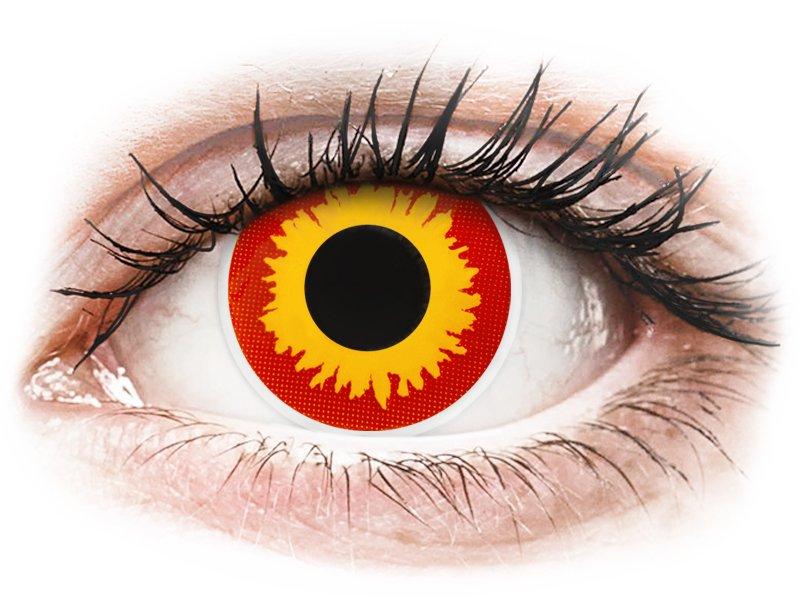 ColourVUE Crazy Lens - Wildfire - dioptria nélkül (2 db lencse)