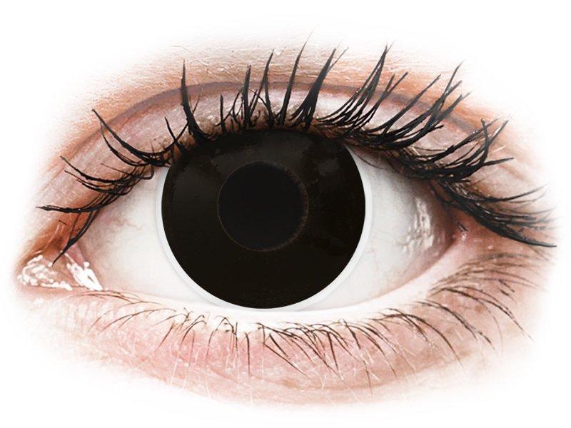 ColourVUE Crazy Lens - BlackOut - dioptriával (2 db lencse)
