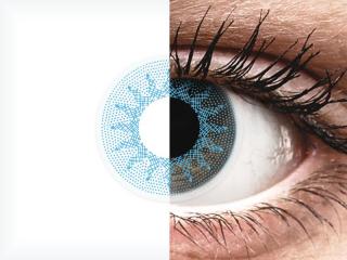 ColourVUE Crazy Lens - Solar Blue - dioptriával (2 db lencse)
