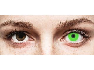 ColourVUE Crazy Glow Green - dioptria nélkül (2 db lencse)
