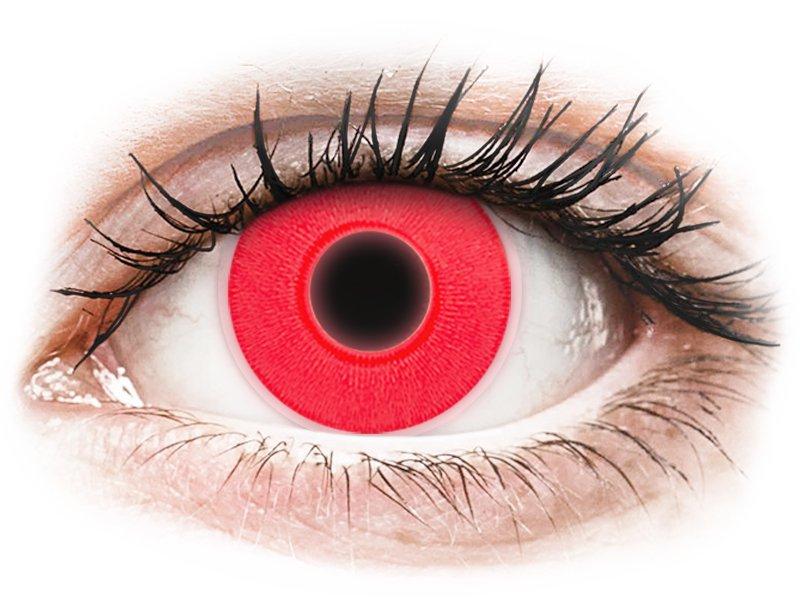 ColourVUE Crazy Glow Red - dioptria nélkül (2 db lencse)