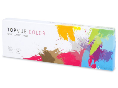 TopVue Color - Blue - dioptriával napi lencsék (10 db lencse)