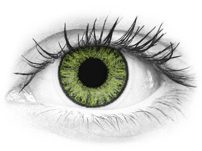 TopVue Color - Fresh Green - dioptria nélkül napi lencsék (10 db lencse)