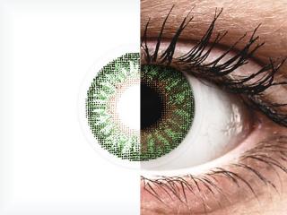 TopVue Color - Green - dioptriával (2 db lencse)