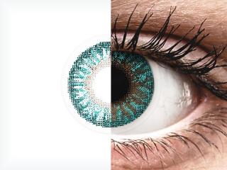 TopVue Color - Turquoise - dioptriával (2 db lencse)