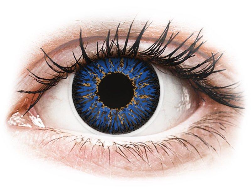 ColourVUE Glamour Blue - dioptriával (2 db lencse) - Coloured contact lenses