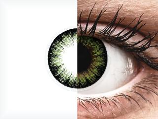 ColourVUE BigEyes Party Green - dioptria nélkül (2 db lencse)