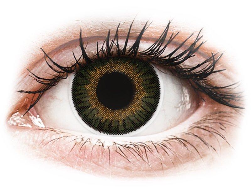 ColourVUE 3 Tones Green - dioptriával (2 db lencse) - Coloured contact lenses