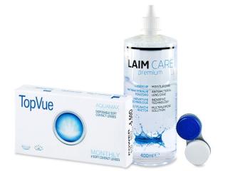 TopVue Monthly (6db lencse) + 400 ml Laim-Care ápolószer