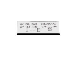 Clariti Toric (6 lencse) - Paraméterek előnézete