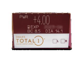 Dailies TOTAL1 (30db lencse) - Paraméterek előnézete