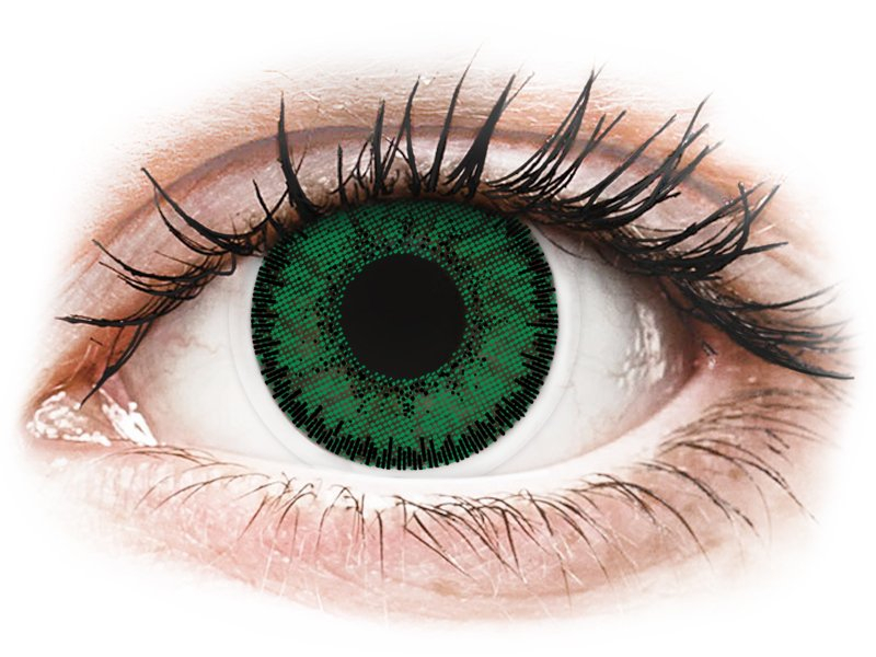 SofLens Natural Colors Emerald - dioptriával (2 db lencse)
