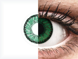 SofLens Natural Colors Emerald - dioptria nélkül (2 db lencse)