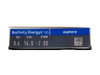 Biofinity Energys (3 lencse) - Paraméterek előnézete
