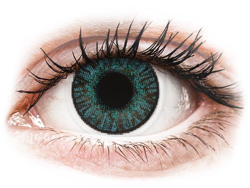 FreshLook ColorBlends Brilliant Blue - dioptriával (2 db lencse) - Coloured contact lenses