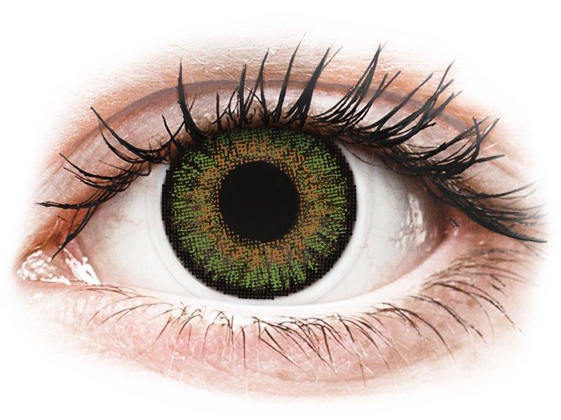 FreshLook One Day Color Green - dioptria nélkül (10 db lencse)