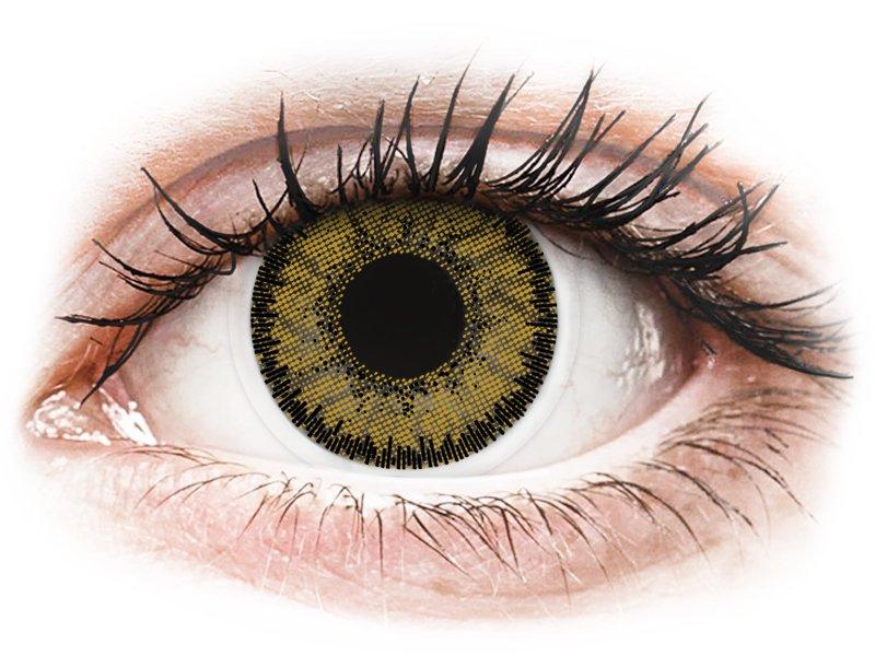 SofLens Natural Colors Dark Hazel - dioptriával (2 db lencse) - Coloured contact lenses