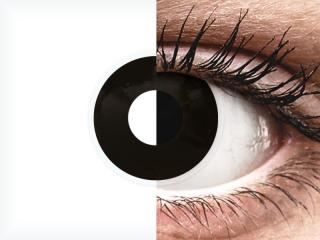 ColourVUE Crazy Lens - Blackout - dioptria nélkül napi lencsék (2 db lencse)