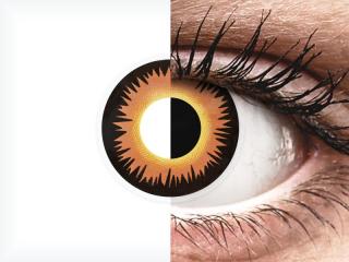 ColourVUE Crazy Lens - Orange Werewolf - dioptria nélkül napi lencsék (2 db lencse)