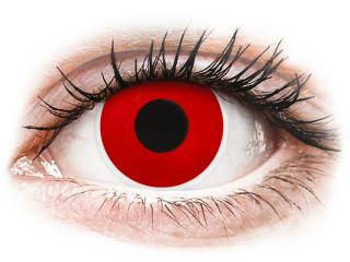 ColourVUE Crazy Lens - Red Devil - dioptria nélkül napi lencsék (2 db lencse)