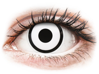 ColourVUE Crazy Lens - White Zombie - dioptria nélkül napi lencsék (2 db lencse)