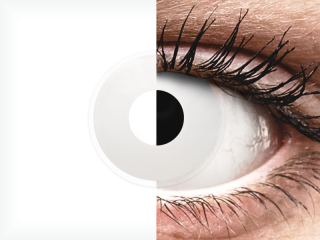 ColourVUE Crazy Lens - Whiteout - dioptria nélkül napi lencsék (2 db lencse)
