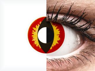 ColourVUE Crazy Lens - Dragon Eyes - dioptria nélkül napi lencsék (2 db lencse)