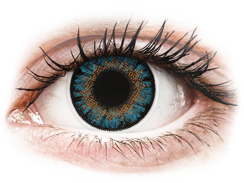 ColourVue One Day TruBlends Blue - dioptriával (10 db lencse) - Coloured contact lenses