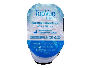TopVue Daily (10+10 db lencse) - Buborékcsomagolás előnézete